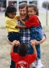 Wess with children