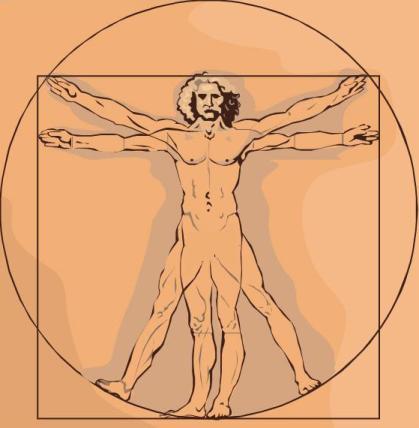 Leonardo da Vinci's Vitruvian Man Sketch