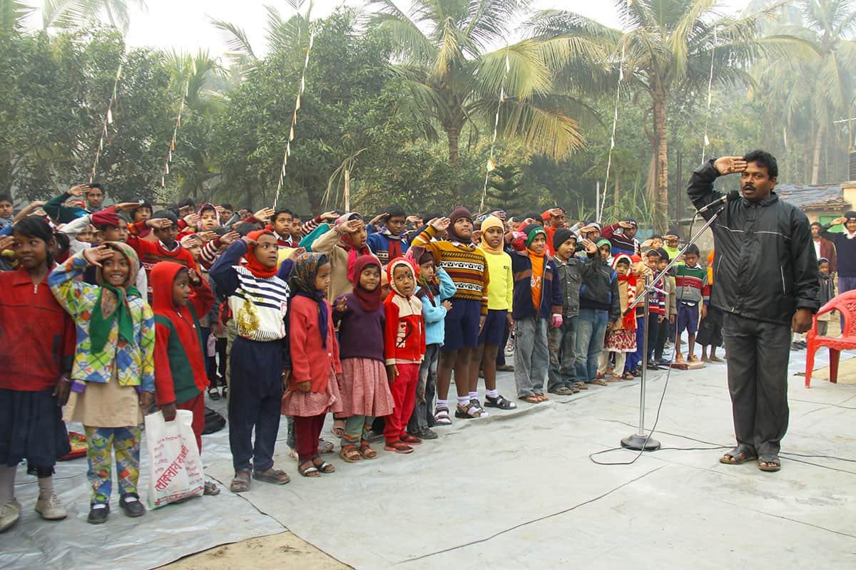 Republic Day in India Saluting