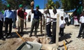Laying the foundation for the Capitol Child Development Center in Haiti
