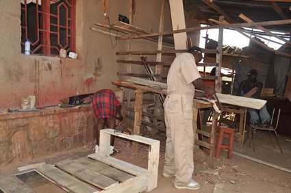 man working in carpentry shop