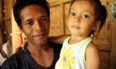 Father and daughter in the Philippines