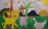Artwork by sponsored child in Guatemala