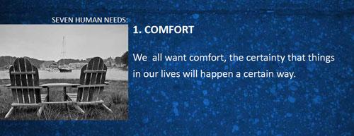 7 human needs comfort