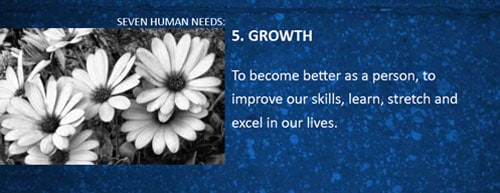 7 human needs growth