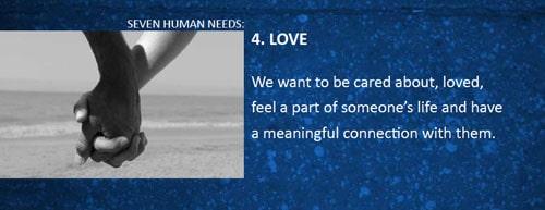 7 human needs love