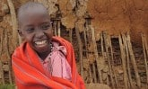 Sponsored child in Kenya laughing