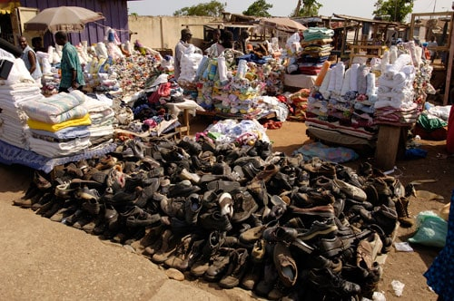 ending poverty shoe market in ghana