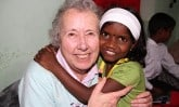 Margaret Lutley and sponsored child