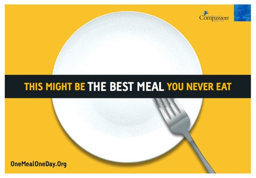 one meal oen day poster