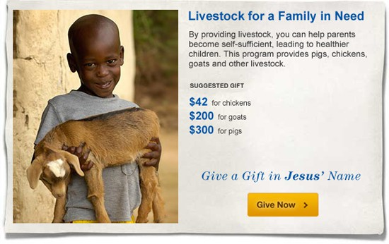 livestock gift catalog
