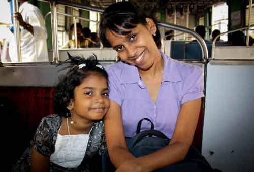 generosity priya with daughter