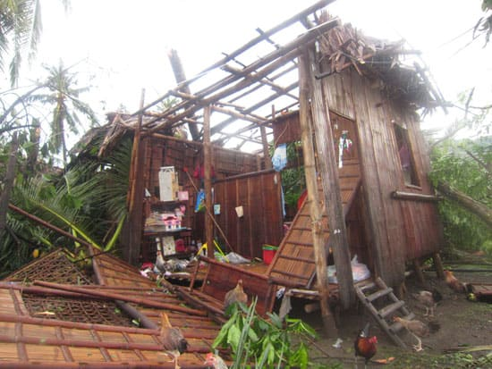 typhoon haiyan destroyed house