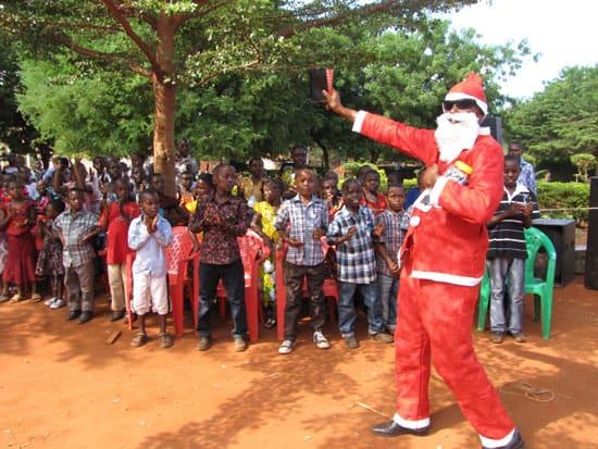 christmas in tanzania santa