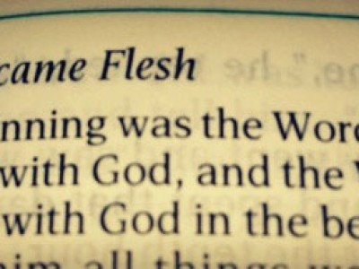 one word became flesh
