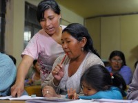 literacy class in bolivia