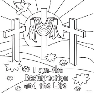 easter resurrection coloring page