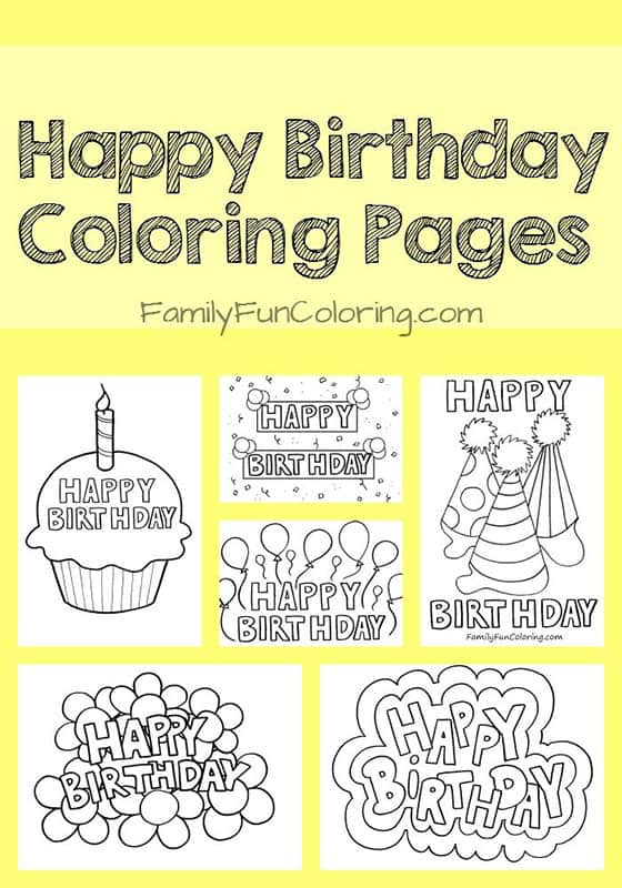 Birthday Card Ideas Coloring