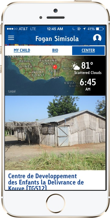 Compassion App Weather Map