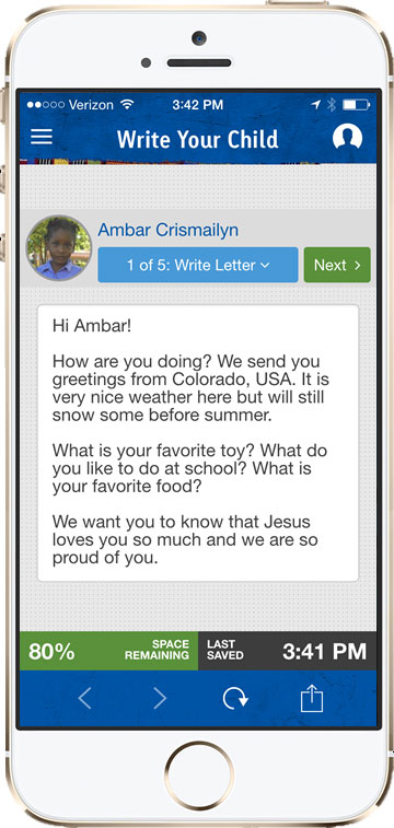 compassion app letter writing 2