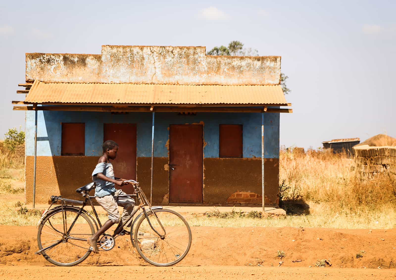 Day of the African Child Riding a Bike