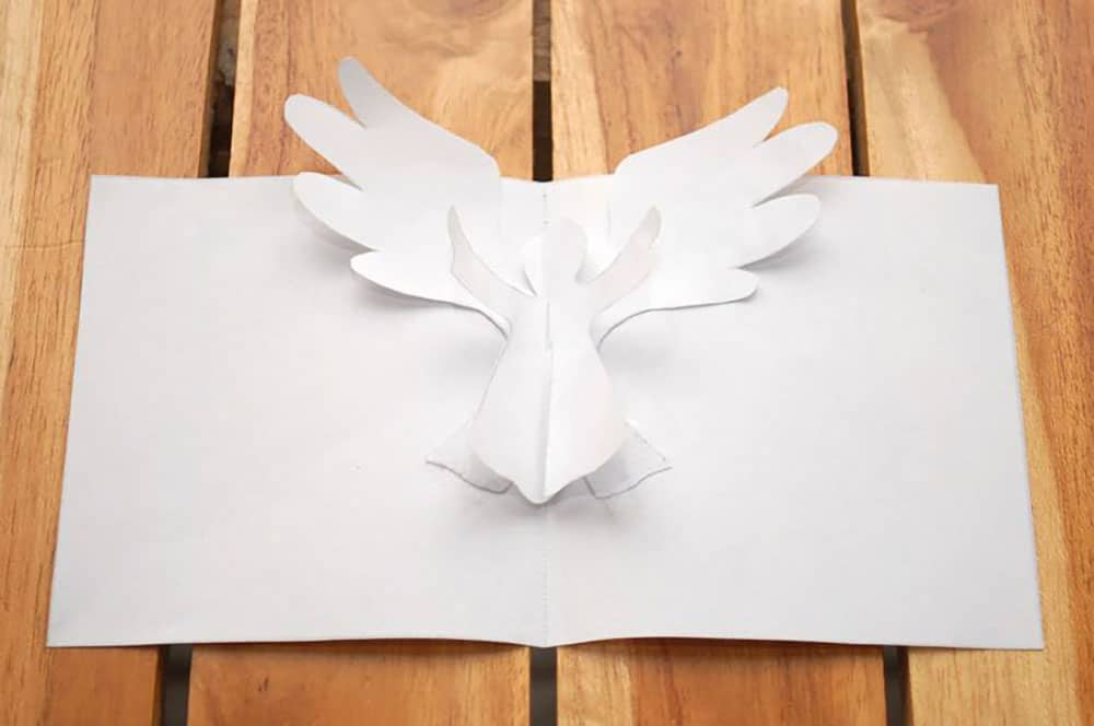 DIY Christmas Cards Popup Angel