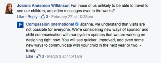 Facebook Questions Joanna