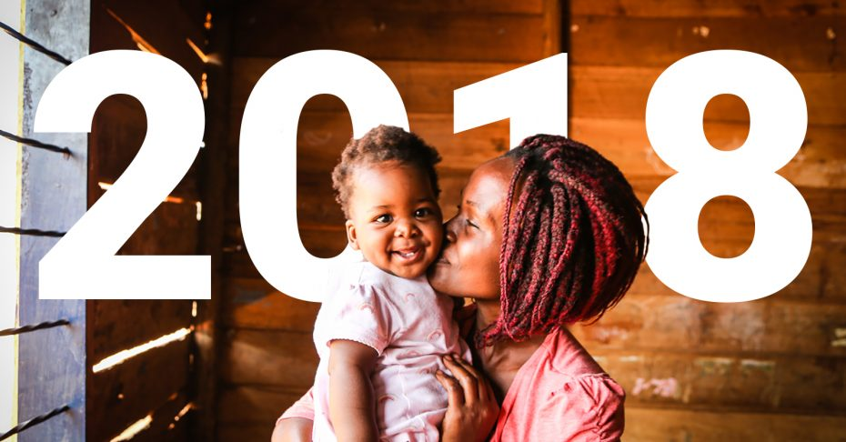 One word to move us in 2018: compassion Mom and Child