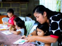 Who Helps the Children Write Letters to Compassion Sponsors?