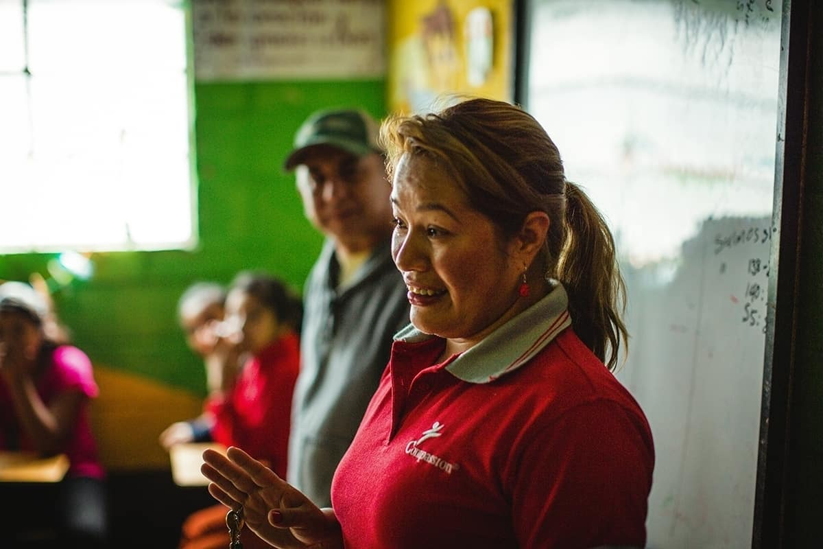 Elby Rivas, Program Director at the compassion center in Guatemala, invests in programs that teach girls woodworking skills