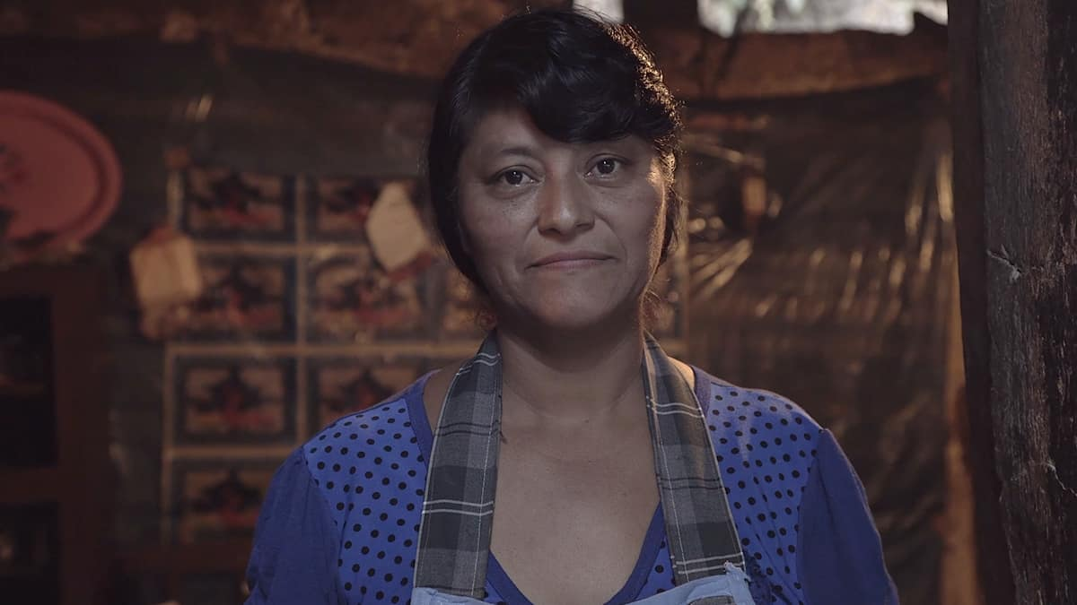 Lucerito, who crafts handmade furniture, was supported by her mother