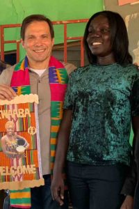 Compassion International's President & CEO Jimmy with Elaine ghana