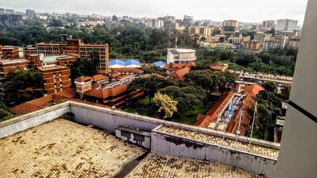 An aerial view of Nairobi, Kenya.